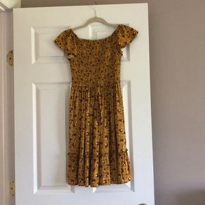 Floral mustard target dress  in size extra small